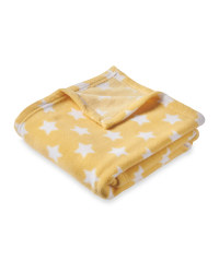 Baby Fleece Blanket Yellow Stars