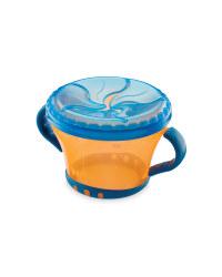 Baby Snack Keeper - Orange/Blue