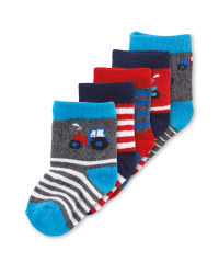 Tractor Baby Socks 5 Pack