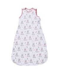 Pink Bear Baby Sleep Bag 2.5 Tog