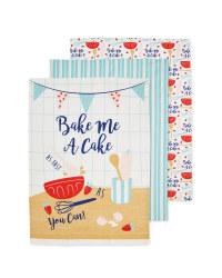 Bake A Cake Tea Towels 3 Pack