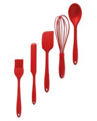 Red Baking Utensils Set