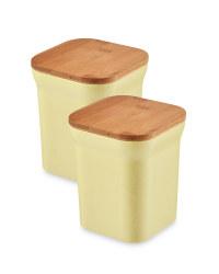 Bamboo Medium Storage Canisters - Yellow