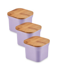 Bamboo Small Storage Canisters - Purple
