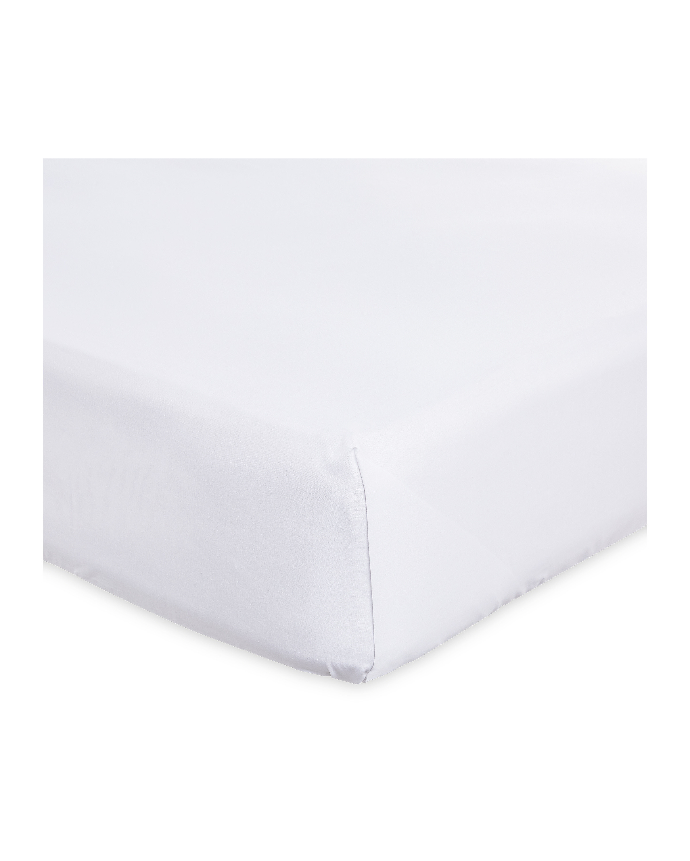Bamboo Super King White Flat Sheet