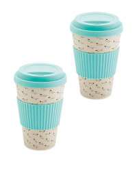 Dachshund Bamboo Travel Mug 2 Pack