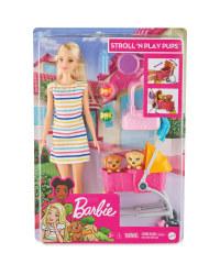 Barbie Stroll 'N Play Pups Set