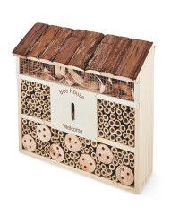 Bark Flat Roof Bee & Insect House