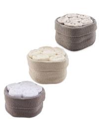 Basket & Face Cloth Set 6 Pack