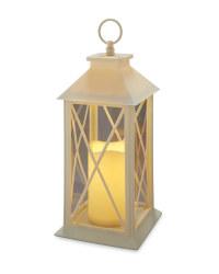 Battery Cross Lantern - Cream
