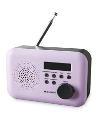 Bauhn DAB & FM Radio - Purple