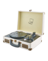 Reka Retro USB Record Player - Cream