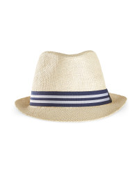 Avenue Ladies' Beach Hat - Blue/ White