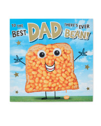 Bean Father's Day Card