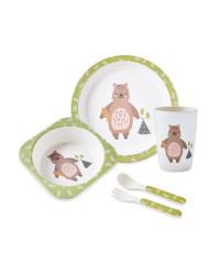 Children's Bear Bamboo Dinner Set