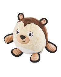 Bear Plush Football Dog Toy