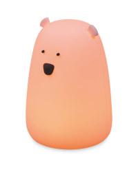 Bear Silicone Night Light - Pink