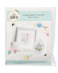 Bear/Bunny Baby Cross Stitch Kit