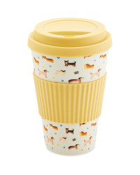 Beige Bamboo Travel Mug