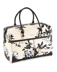 Avenue Beige Floral Travel Holdall