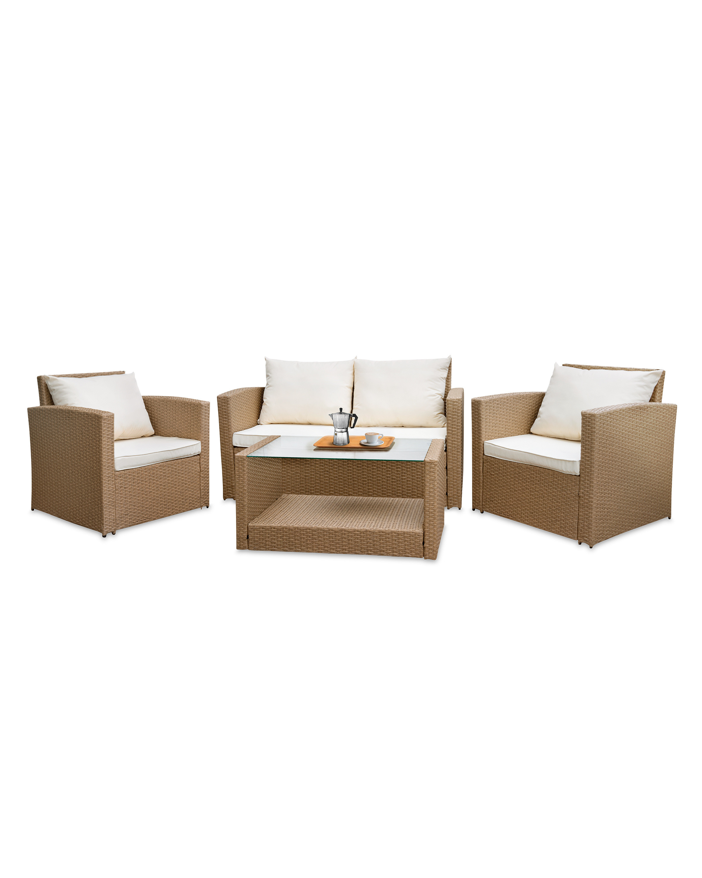 Sensational Beige Rattan Effect Garden Set Home Interior And Landscaping Synyenasavecom