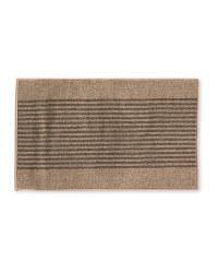 Beige/Brown Stripes Washable Mat