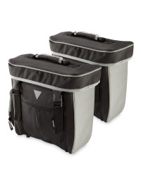 Bicycle Pannier Bags - Black & Grey