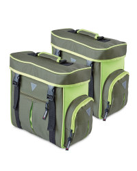 Bicycle Pannier Bags - Olive & Green