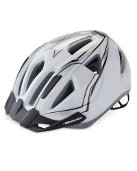 Bikemate Adult's Bike Helmet - White/Grey