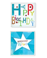 Birthday Wishes Cards 10 Pack