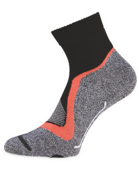 Black/Coral/Grey Cycling Ankle Socks