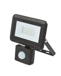 Black 10W Floodlight With Sensor