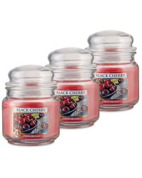 Black Cherry Candle Jar 3 Pack