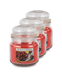 Black Cherry Jar Candle 3 Pack