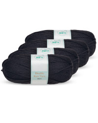 So Crafty Black Double Knit Yarn