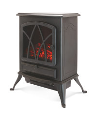 Black Electric Stove Effect Heater