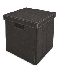 Black Felt Storage Cube