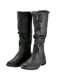 Black Ladies Knee High Boot