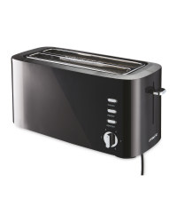 Black Long Slot Toaster