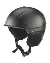 Crane Matt Black Ski Helmet
