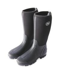 Crane Black Neoprene Boots