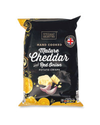Mature Cheddar And Red Onion Crisps