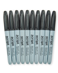 Black Permanent Markers 10-Pack