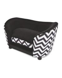 Black Pet Collection Sofa Pet Bed