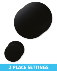Black Placemat and Coaster Set