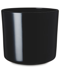 Black Shiny Ceramic Pot