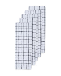 Black Terry Cotton Tea Towels 5 Pack