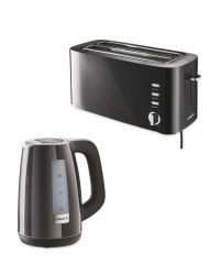 Black Toaster and Kettle Bundle