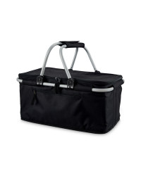 Black Two-Handle Shopping Basket