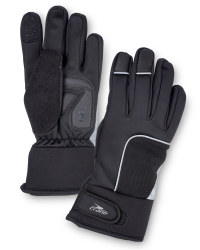 Black Winter Cycling Gloves